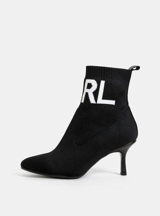 Černé dámské kotníkové boty KARL LAGERFELD Pandora
