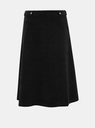 Černá manšestrová sukně VERO MODA Ayoe