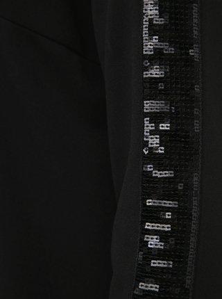 Černé šaty s flitry na rukávech Zizzi My