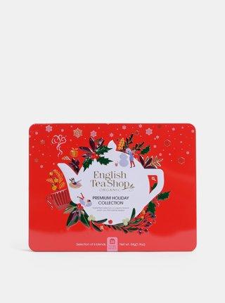 Červená vianočná prémiová kolekcia čajov English Tea Shop