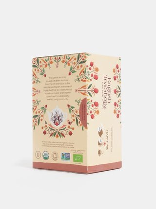 Bio bylinný čaj s citrónovou trávou, jablkami, pomarančovou kôrou a korením English Tea Shop Pocit štěstí