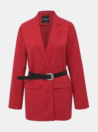 Červené sako s páskem TALLY WEiJL