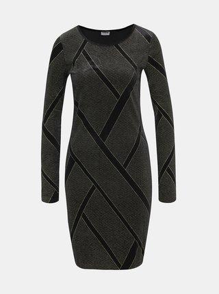 Čierne vzorované sametové šaty Noisy May Diva