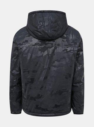 Tmavomodrá pánska vzorovaná vodeodolná bunda Geox Tyren