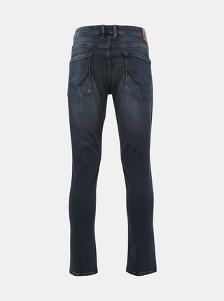 Tmavomodré pánske tapered fit rifle Pepe Jeans Stanley Night