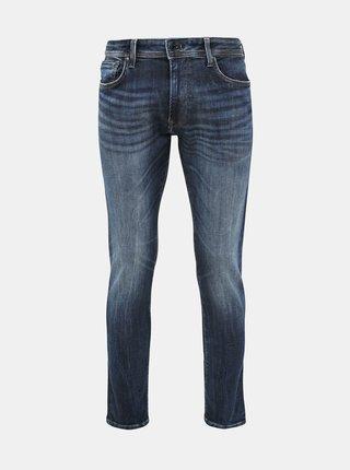 Modré pánské tapered fit džíny Pepe Jeans Stanley