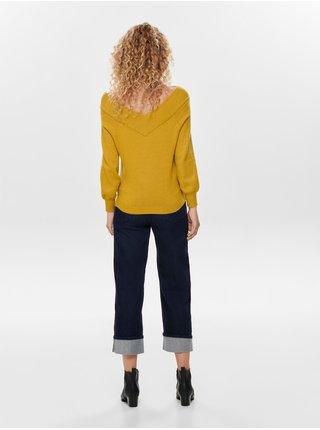 Horčicový sveter Jacqueline de Yong Shanon