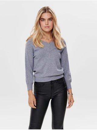 Svetlomodrý sveter Jacqueline de Yong Shanon