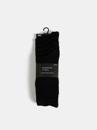 Sada pěti párů černých ponožek M&Co