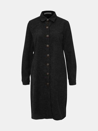 Čierne menčestrové košeľové šaty Haily´s Marie