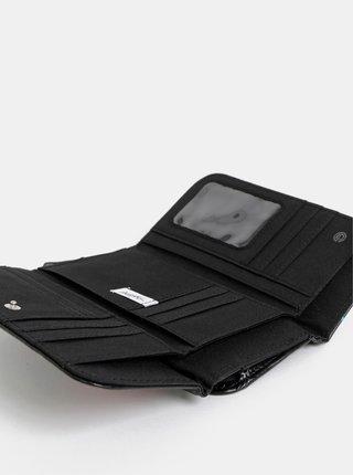 Čierna dámska vzorovaná peňaženka NUGGET Arlen