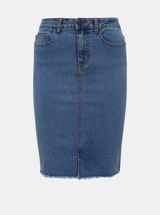 Modrá džínová pouzdrová sukně Noisy May Lexi