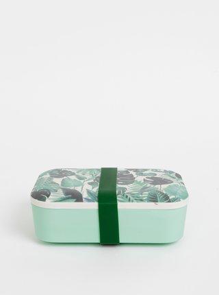 Zelený vzorovaný box na jedlo Sass & Belle