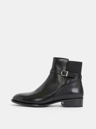 Čierne dámske kožené členkové topánky Vagabond Mira