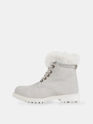 Světle šedé dámské zimní kotníkové boty Haily´s Monty