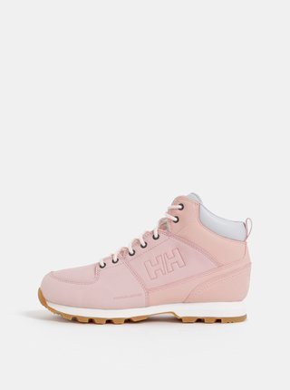 Růžové dámské kožené kotníkové boty HELLY HANSEN Tsuga