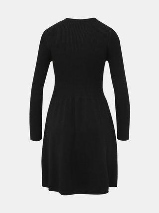 Černé svetrové šaty ONLY Alma