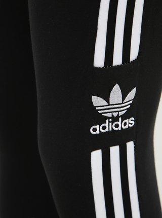 Černé dámské legíny s lampasem adidas Originals Trefoil