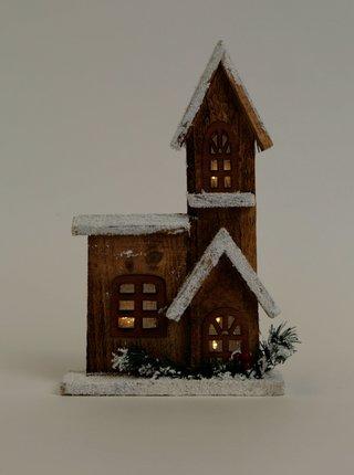 Dřevěná svítící vánoční dekorace Dakls
