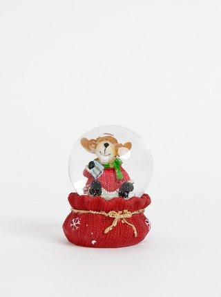 Červené snežítko s vianočným motívom Dakls