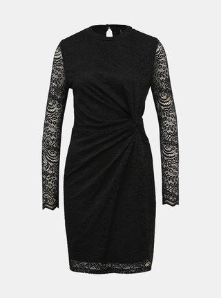 Čierne krajkové púzdrové šaty VERO MODA Medina