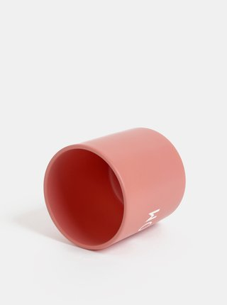 Starorůžový porcelánový hrnek Design Letters Love Mom 300 ml
