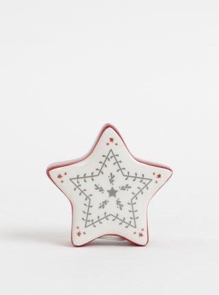 Červeno-krémová solnička v tvare hviezdy Cooksmart