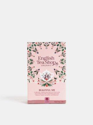 Bio bylinný čaj s harmančekom, ibištekom, škoricou, kakaom, pomerančom a rúžovými okvětnými lístkami English Tea Shop Pro krásu