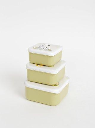 Sada troch svetlozelených boxov na jedlo Sass & Belle Safari