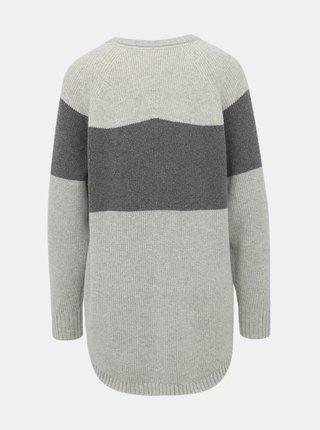 Svetlošedý sveter s prímesou vlny Kari Traa Himle