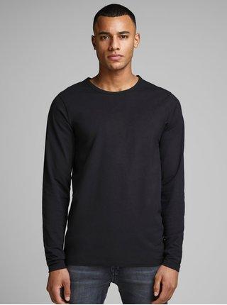 Černé basic tričko s dlouhým rukávem Jack & Jones