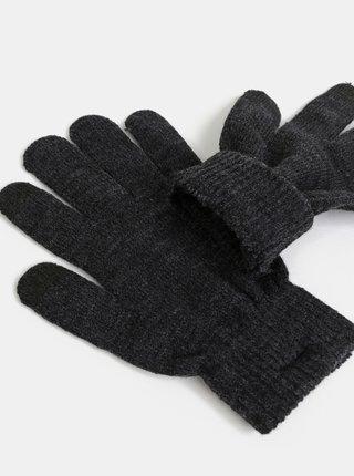 Tmavě šedé rukavice Pieces New