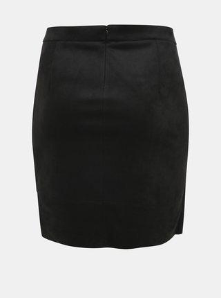 Černá sukně v semišové úpravě ONLY CARMAKOMA Julia