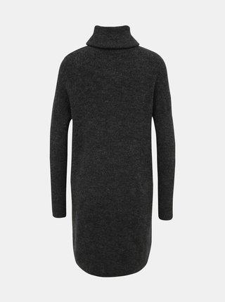 Tmavě šedé svetrové šaty ONLY Jana
