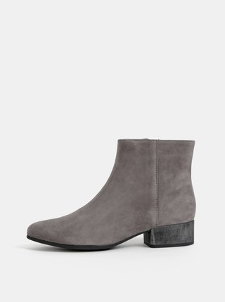 Šedé dámské semišové kotníkové boty Geox Peython