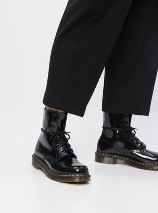 Čierne dámske kožené kotníkové topánky Dr. Martens 1460