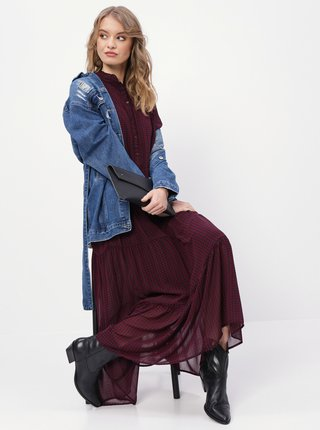 Modrá dámská dlouhá džínová bunda Haily´s Alina
