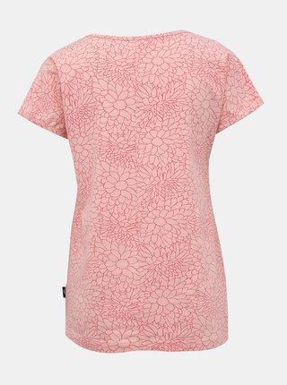 Rúžové dámske kvetované tričko SAM 73