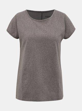 Šedé dámské květované tričko SAM 73