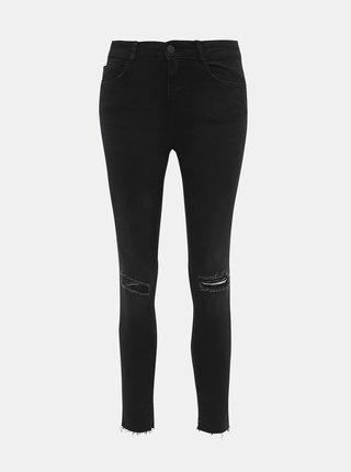 Černé zkrácené skinny fit džíny Noisy May Lucy