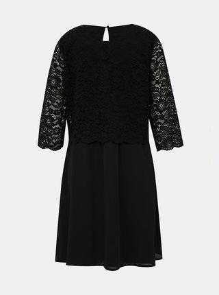 Černé šaty s krajkou VILA Lovia