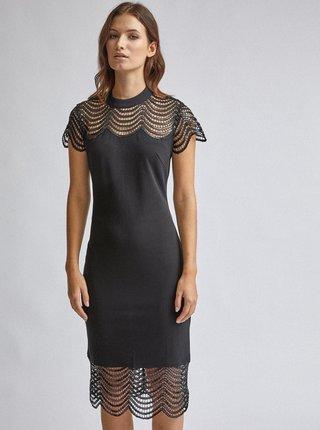 Černé pouzdrové šaty s krajkou Dorothy Perkins