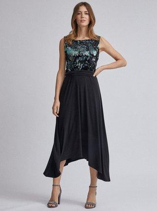 Černé midi šaty s flitry Dorothy Perkins
