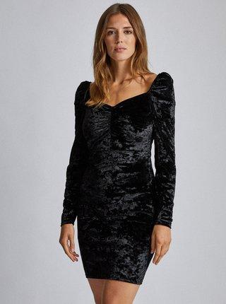 Černé sametové pouzdrové šaty Dorothy Perkins