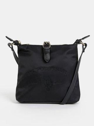 Čierna crossbody kabelka U.S. Polo Assn. Patterson