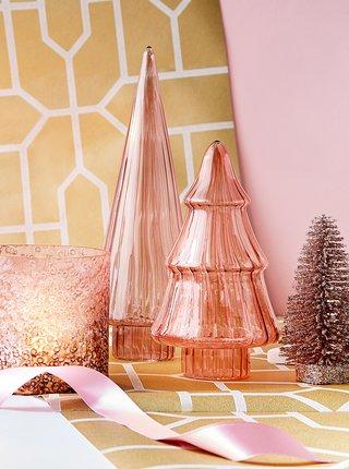 Růžová dekorace ve tvaru stromu BUTLERS