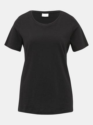 Čierne basic tričko VILA Sus