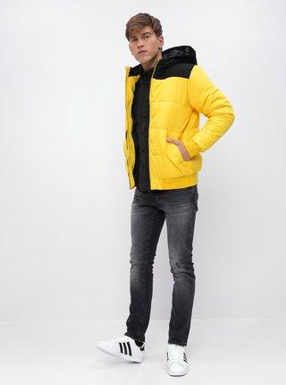 Žlutá prošívaná zimní bunda ONLY & SONS Boston