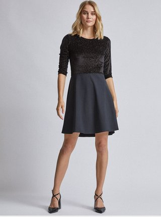 Čierne sametové šaty Dorothy Perkins
