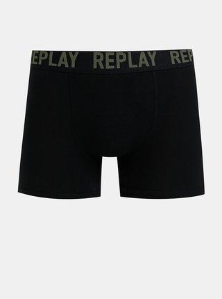 Sada dvoch boxeriek v čiernej farbe Replay